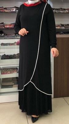 - Alt Kısmı Pile Detaylı Elbise/4551