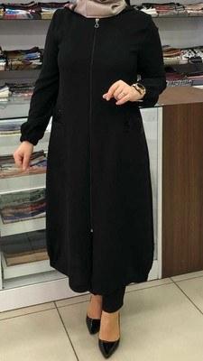 - Kapşonlu Pul Payetli Giy Çık Kap Siyah /2234