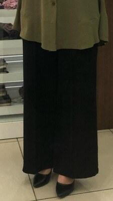 - Kemerli Bol Paça Pantolon Siyah/2105