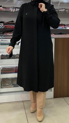 ARMİNE - Kolu Fiyonklu Basic Tunik Siyah/4793